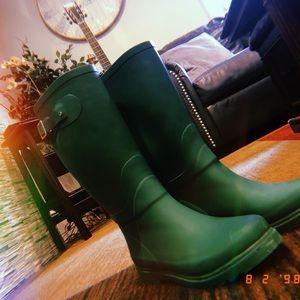 Rampage Woman's Green Rain Boots